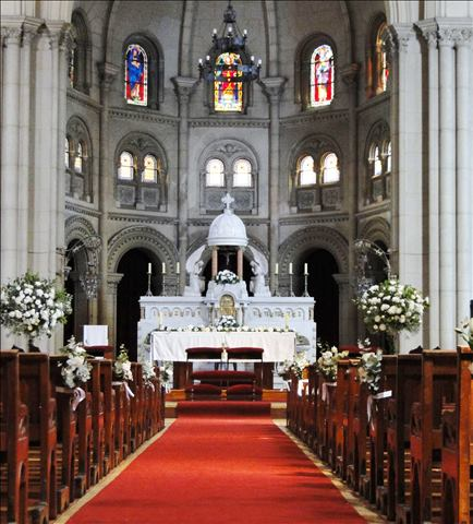 Decoración Iglesia sagrado Corazones
